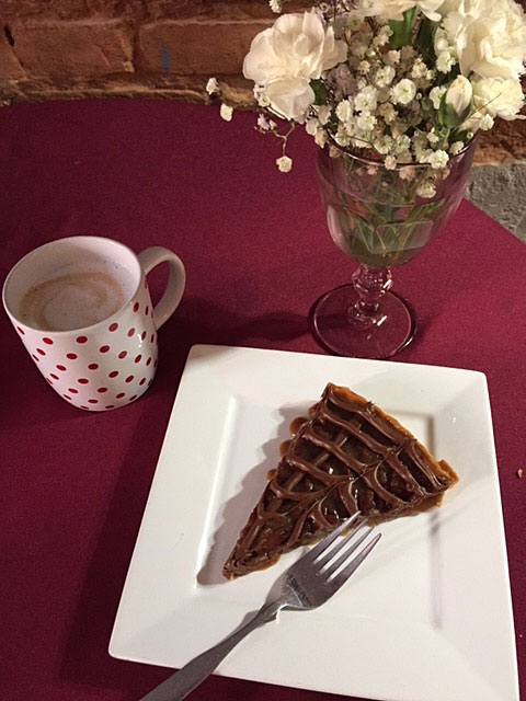 Caramel Pecan Tart at Austin Street Bistro in Jefferson, Texas