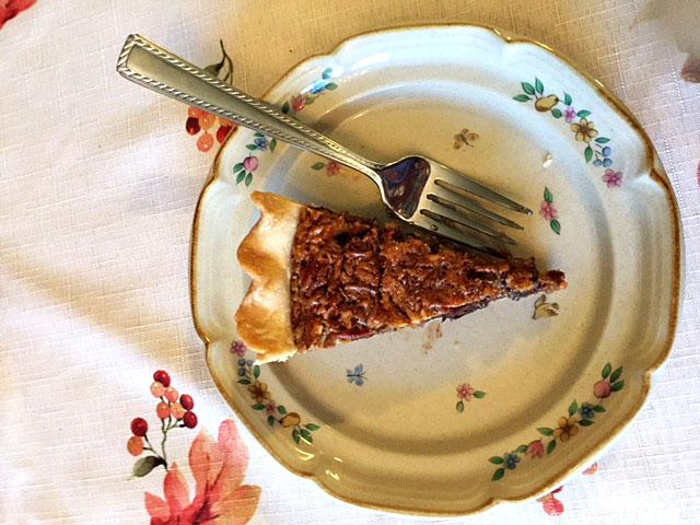Slice of Bourbon Chocolate Pecan Pie