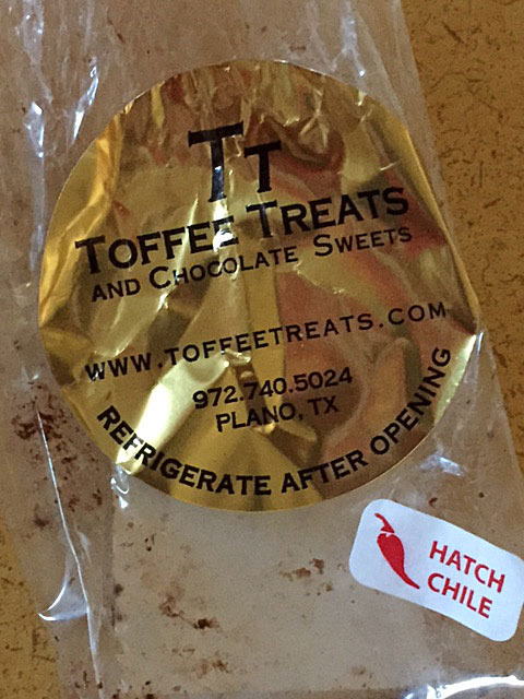 Hatch Chile Toffee Treats (empty bag)